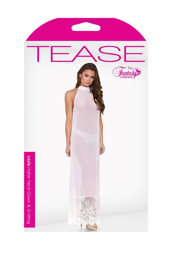 Layla Halter Neck Gown G-string Tease B486