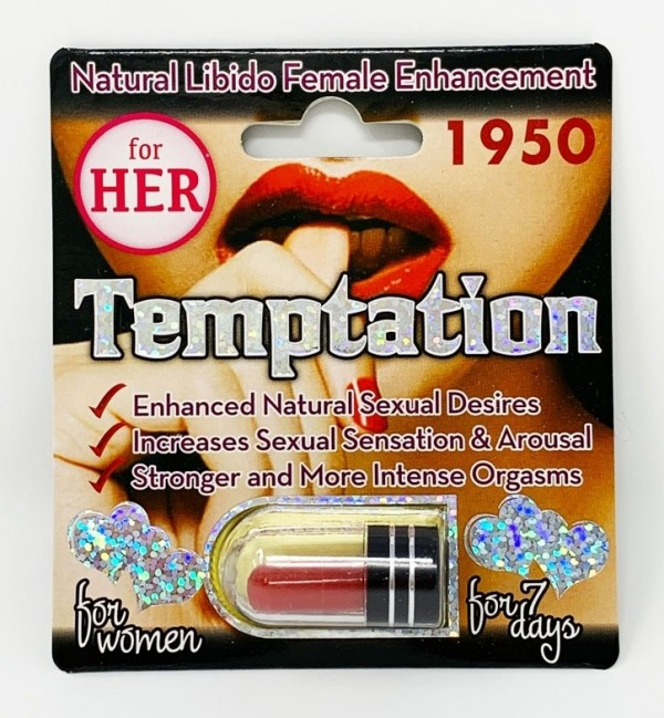 Temptation 1950 For Her Libido Natural Enhancement Red Pill front