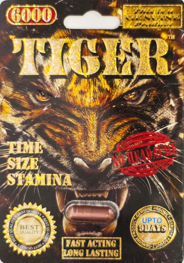 Tiger 6000 Genuine Male Sexual Enhancer Pill-1 (No Headache)