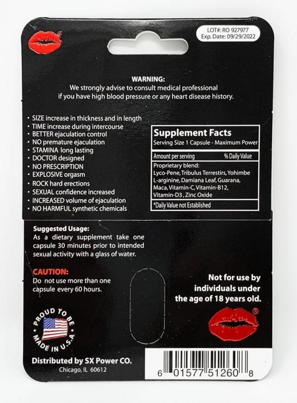 TnT Premium Red Male Sexual Performance Enhancement Pill back