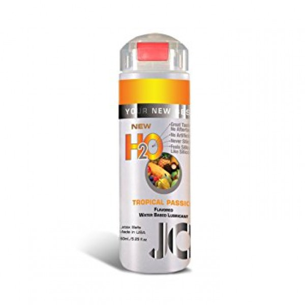 System Jo H2O Tropical Passion Flavored Lubricant Latex Safe  5.25Oz