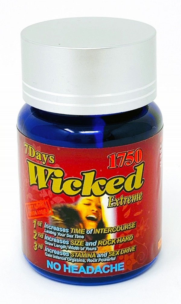 Wicked 1750mg Extreme Triple Enhancement 3 Pill Bottle