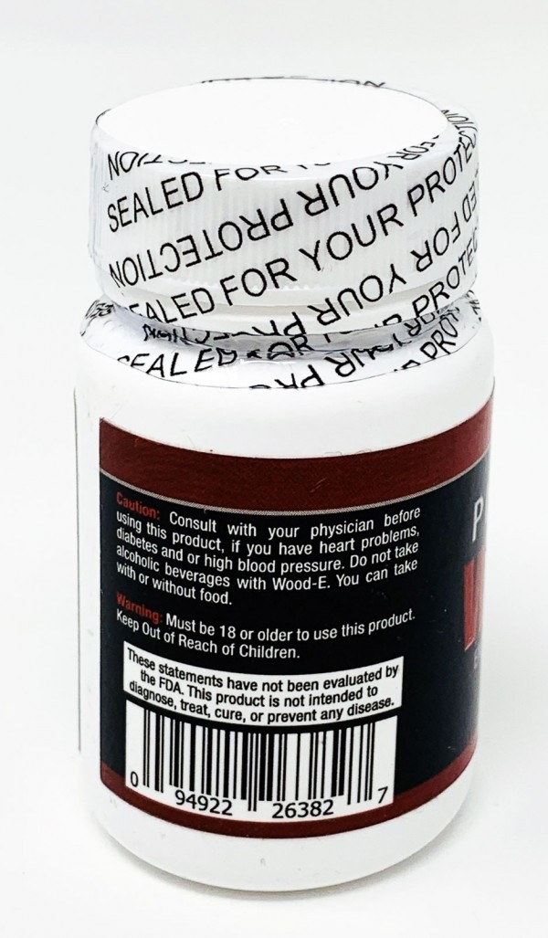 Platinum Wood-E 1250 Male Sexual Pill 3 Counts per Bottle