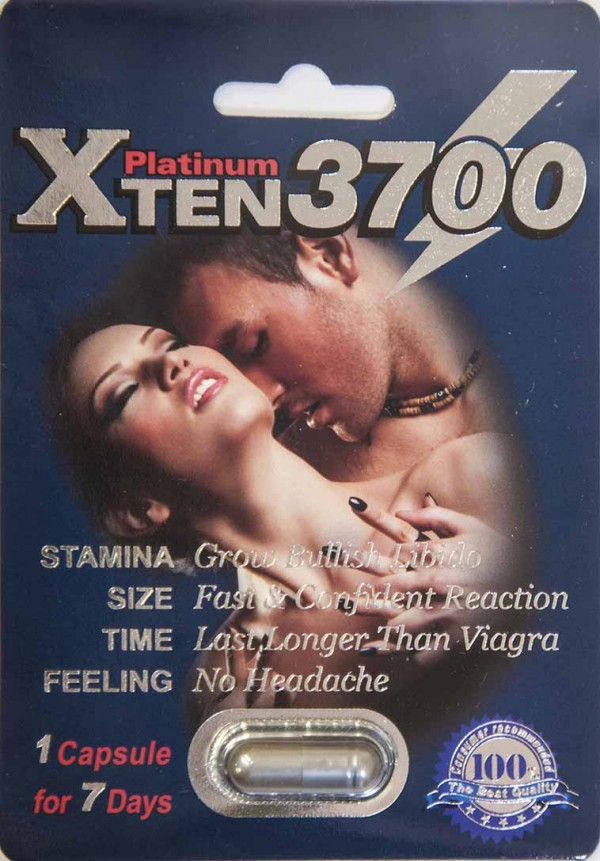 XTEN 3700 Platinum Male Enhancement Sexual Stimulant 1 Capsule